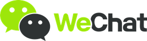 We Chat logo in header